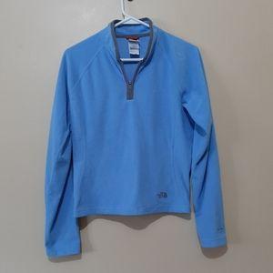The North Face Blue Quarter Zip Fleece Sweater